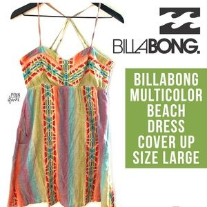 Billabong Multicolor Dress Cover Up Large